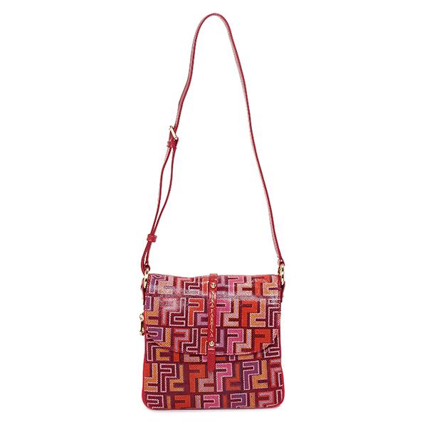 Женская разноцветная сумка из кожи Nina Farmina NF