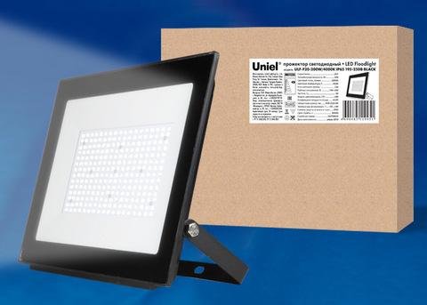 ULF-F20-200W/4000K IP65 195-250В BLACK Прожектор светодиодный. Белый свет (4000K). Корпус черный. TM Uniel.