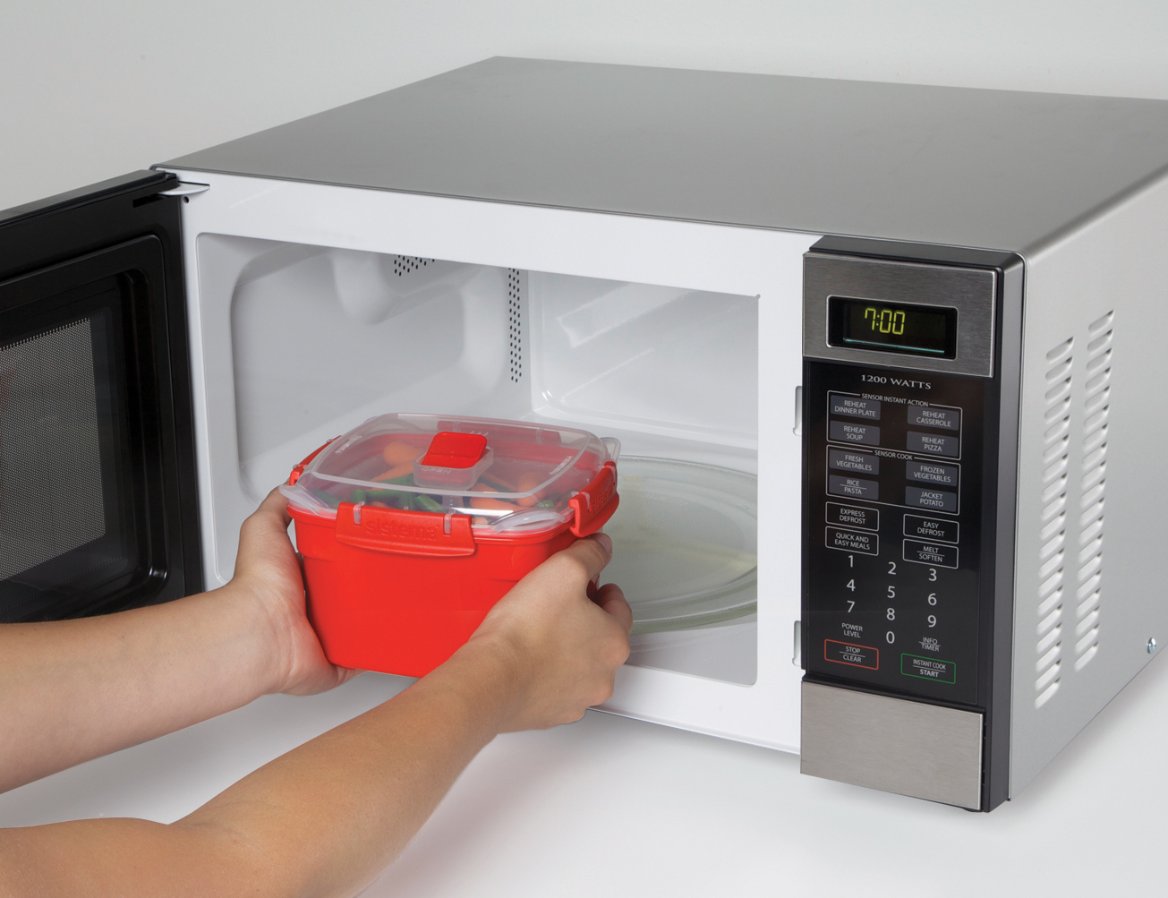 "Контейнер-пароварка для СВЧ Sistema ""Microwave"" 2,4 л"