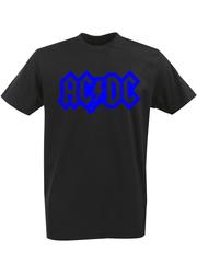 Футболка с однотонным принтом AC DC (Рок) черная 003