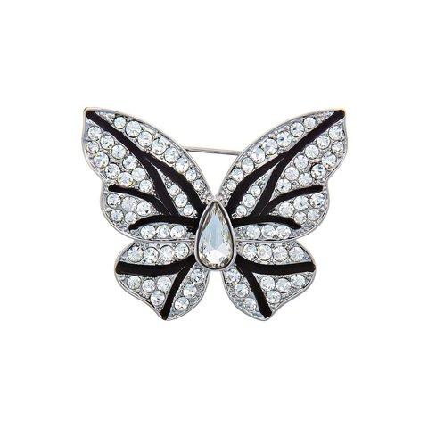 Брошь Бабочка FAN-07425.4 BW/S