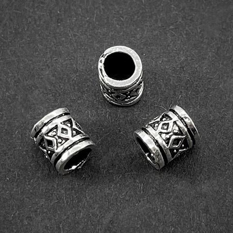 Бусина Агата 5,7х5 мм серебро 925