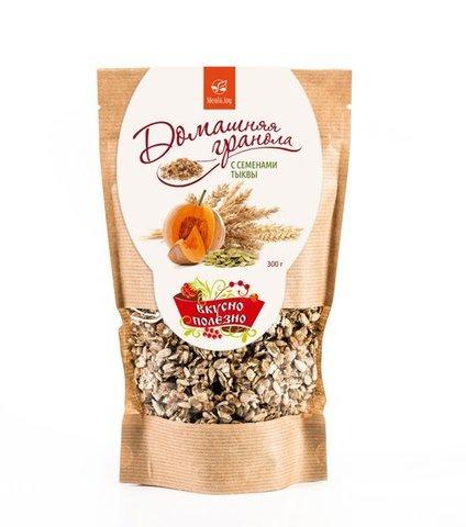 Гранола домашняя с семенами тыквы, 300 гр. (Экокондитер)