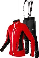 Утеплённый лыжный костюм 905 Victory Code Speed Up wo's Red с лямками женский