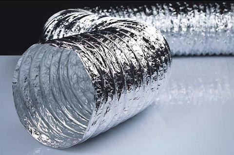Воздуховод ERA AF203 dØ203мм гибкий армированный, металлизированная пленка 70 мкм L=10м