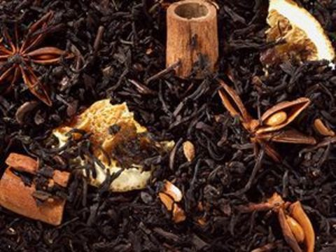 Черный чай Рождественские певцы (корица-апельсин)