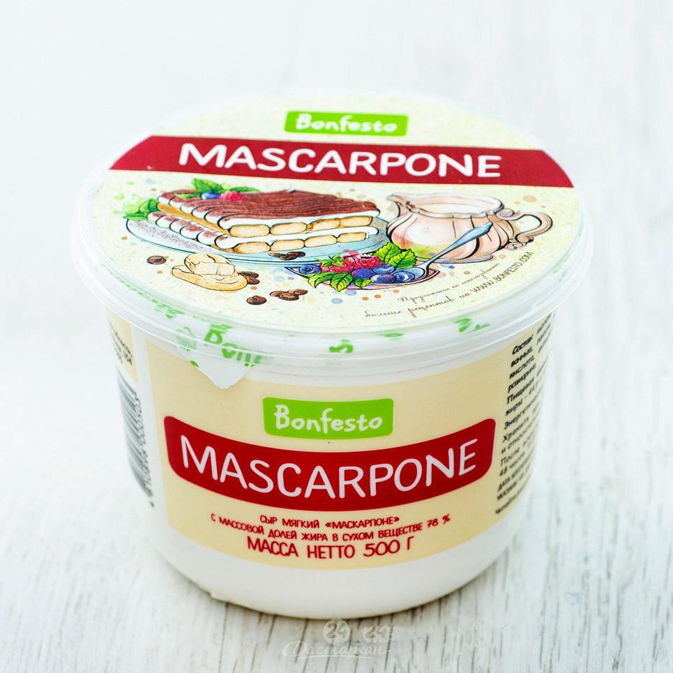 Маскарпоне Bonfesto, 500 г.