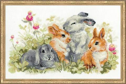 Набор для вышивания крестом «Забавные крольчата» (1416)