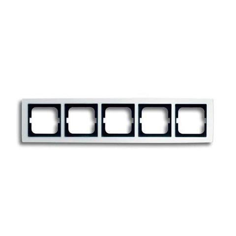Рамка на 5 постов. Цвет Белый глянцевый. ABB(АББ). Solo(Соло). 1754-0-4113