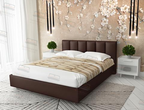 Кровать Sontelle Амонд эко-кожа коричневый