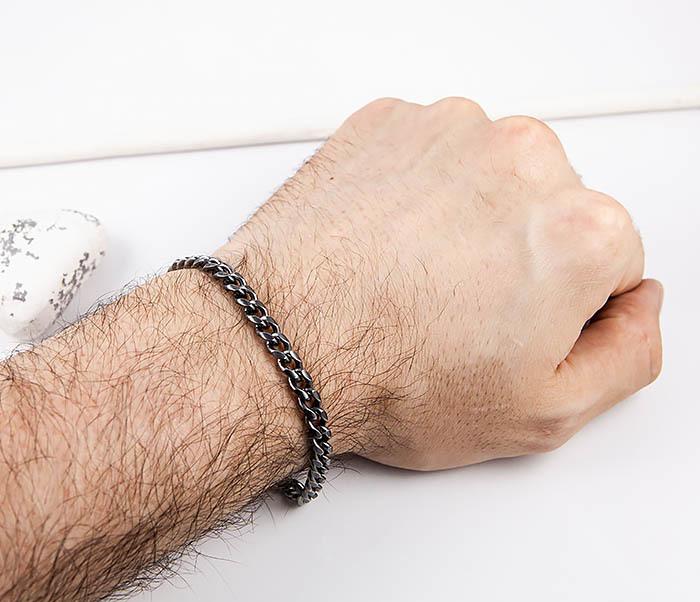 BM552 Тонкий браслет - цепочка из нержавеющей стали фото 06