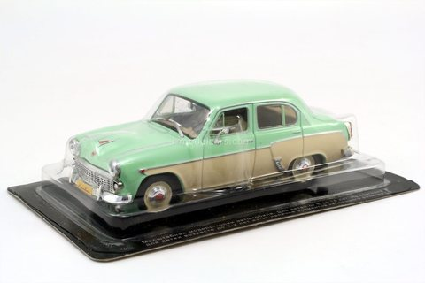 Moskvich-407 light green-beige 1958 IST Models - DeAgostini 1:43