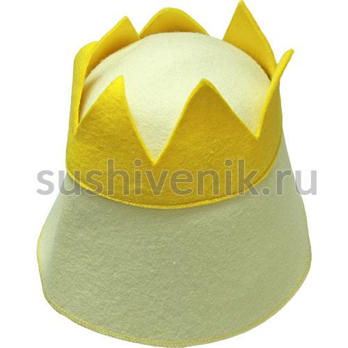 Колпак банный Царь из фетра
