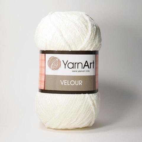 Пряжа Ярнарт ВЕЛЮР цвет 841 молочный