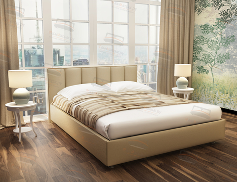 Кровать Sontelle Амонд эко-кожа бежевый