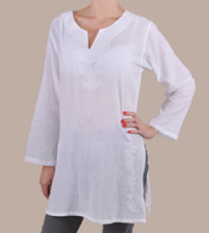 Туники женские 2 XL цвет белый