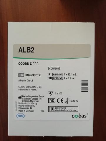Альбумин БКЗ (Albumin Gen.2 cobas с system (ALB2)), 4х100тестов, Roche Diagnostics GmbH, Германия