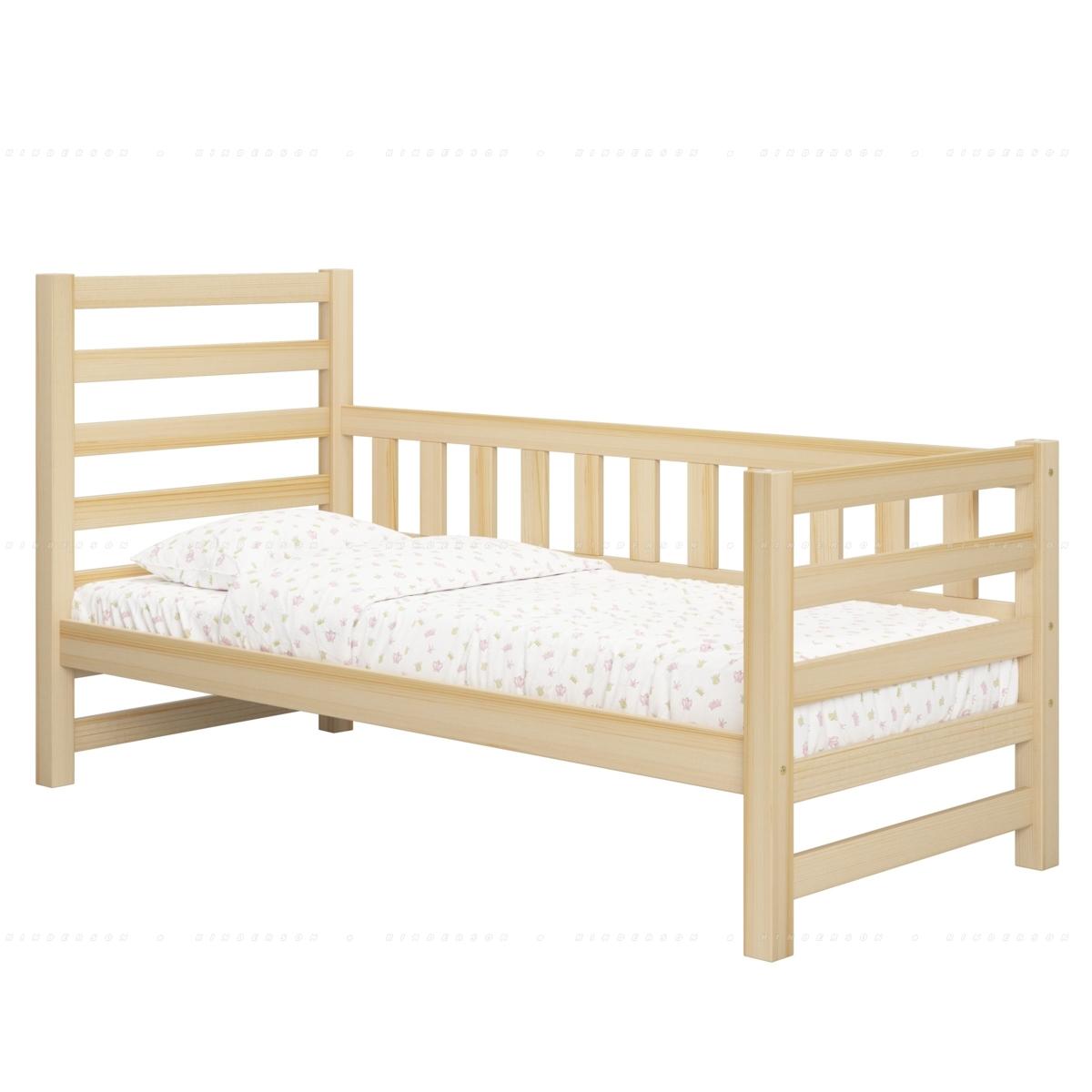 Бортик придает дополнительную жесткость кровати и выполняет функцию третей спинки, в доль которой можно разместить декоративные подушки.