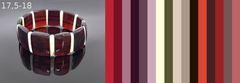 примерная цветовая палитра для одежды под браслет из тёмного янтаря, цвет вишня