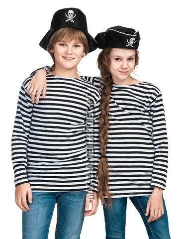 Купить черную тельняшку для ребенка - Магазин тельняшек.ру 8-800-700-93-18Детская тельняшка ВМФ (черная полоса) в Магазине тельняшек