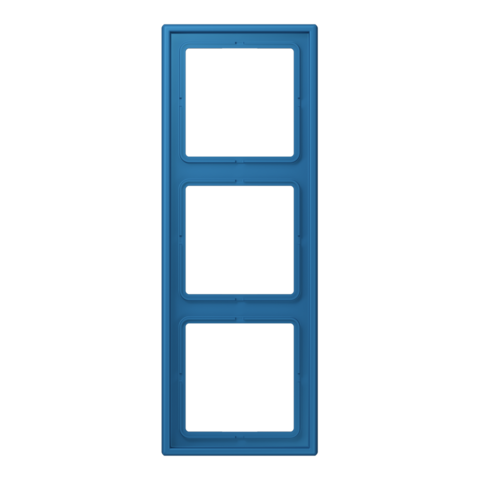 Рамка на 3 поста. Цвет Bleu céruléen 31. JUNG Les Couleurs® Le Corbusier. LC98332030