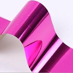 Фольга для дизайна ногтей (фукси)