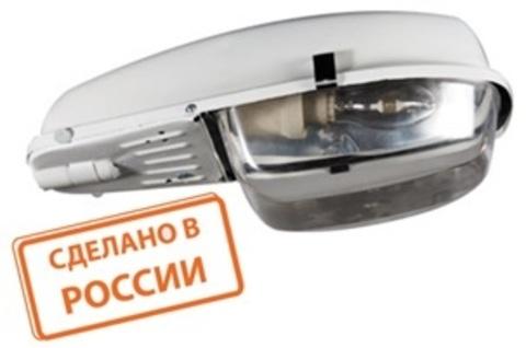 Светильник ЛКУ 97-65-102 Е27 со стеклом, алюм.отраж. TDM