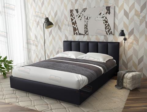 Кровать Sontelle Амонд эко-кожа черный
