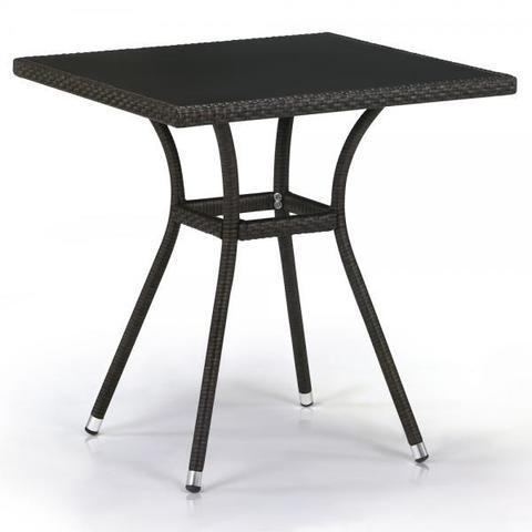 Плетеный стол из искусственного ротанга T282BNS-W53-70x70 Brown