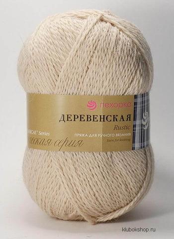 Пряжа Деревенская (Пехорка) 442 Натуральный, фото
