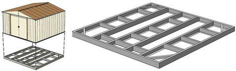 Основание-фундамент для сарая Barnas 3х3м