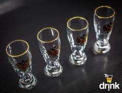 Подарочный набор из 4 стопок для водки «Герб», 60 мл, фото 1