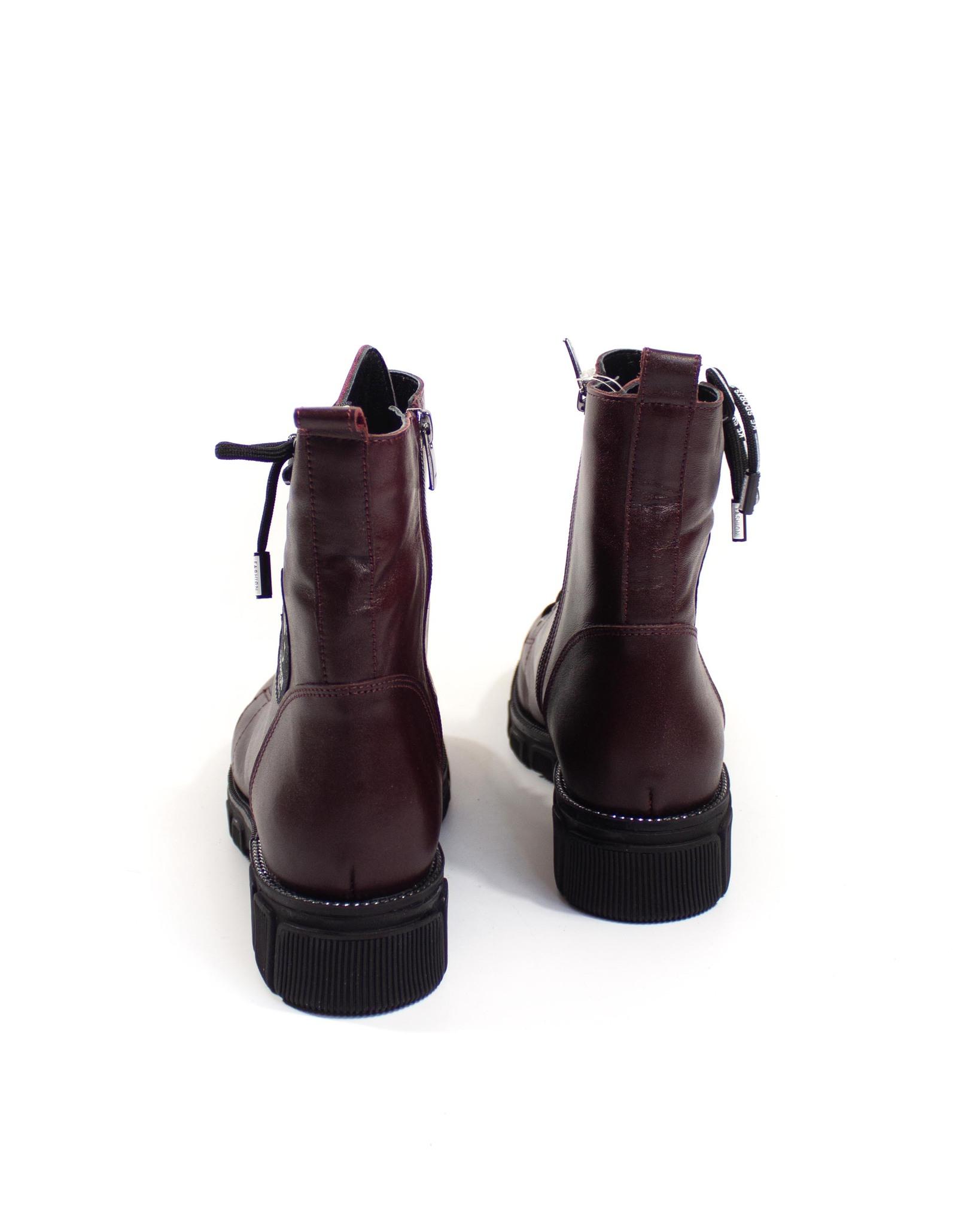 бордовые ботинки Grand Donna