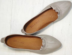 Стильные туфли балетки женские кожаные Wollen G036-1-1545-297 Vision.