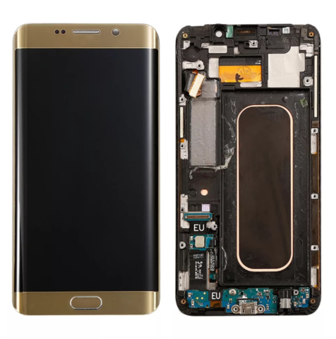 LCD SAMSUNG Galaxy S6 Edge Plus G928F + Touch + Frame Gold Orig