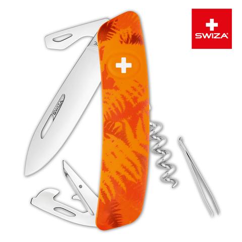 Швейцарский нож Swiza  (KNI.0030.2060) C03 Camouflage 95 мм 11 функций оранжевый