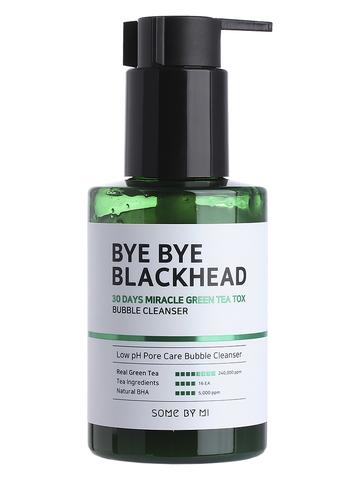 Пенка-маска от черных точек BYE BYE BLACKHEAD 30 DAYS MIRACLE GREEN TEA TOX BUBBLE CLEANSER 120g