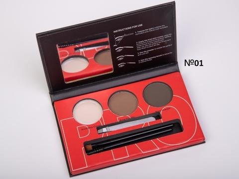 OG-EB2102 Палетка теней+воск для моделирования бровей проф. №01 Brow Professional Palette