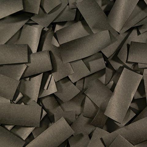 Чёрное конфетти (бумажное, тишью)