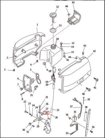 Штифт для лодочного мотора T2,5 SEA-PRO (1-28)