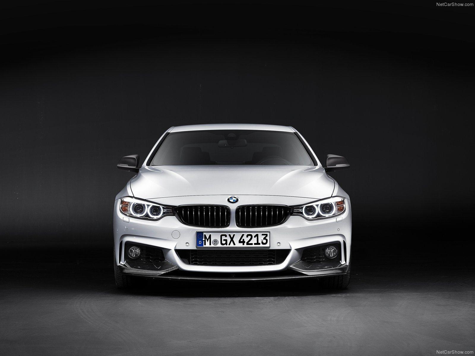 Карбоновый спойлер переднего бампера Performance Style для BMW 4er