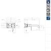 Встраиваемый смеситель для раковины YPSILON PLUS 642103 - фото №2