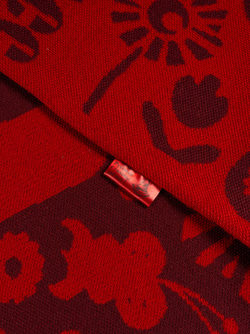 Red Mountain - burgundy tones  No. 6.1   (Fringed Scarf)