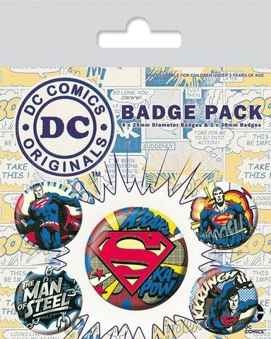 Набор значков «DC Originals (Superman Comic)»