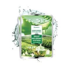 Маска тканевая на основе экстрактов алоэ и зеленого чая 20 гр