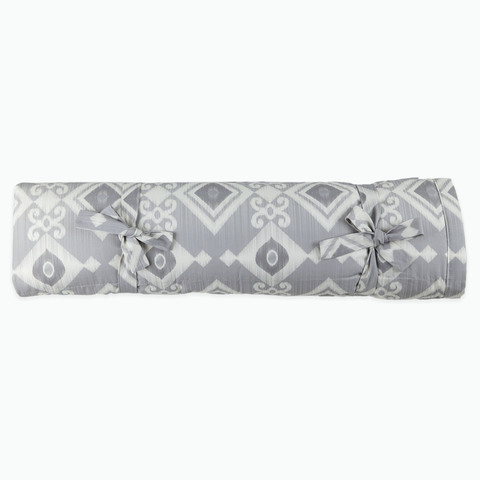 Плед декоративный 150*210 см серый ( принт 02-03) Adili