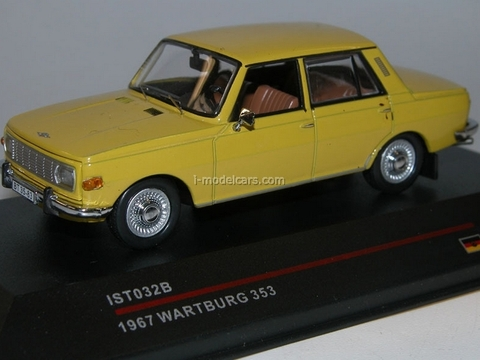 Wartburg 353 yellow 1968 IST032B IST Models 1:43