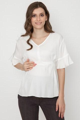 Блузка для беременных 11558 молочный