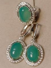 Магда (кольцо + серьги из серебра)