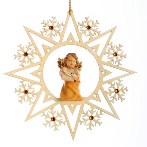 Ангел с нотами со стразами Сваровски